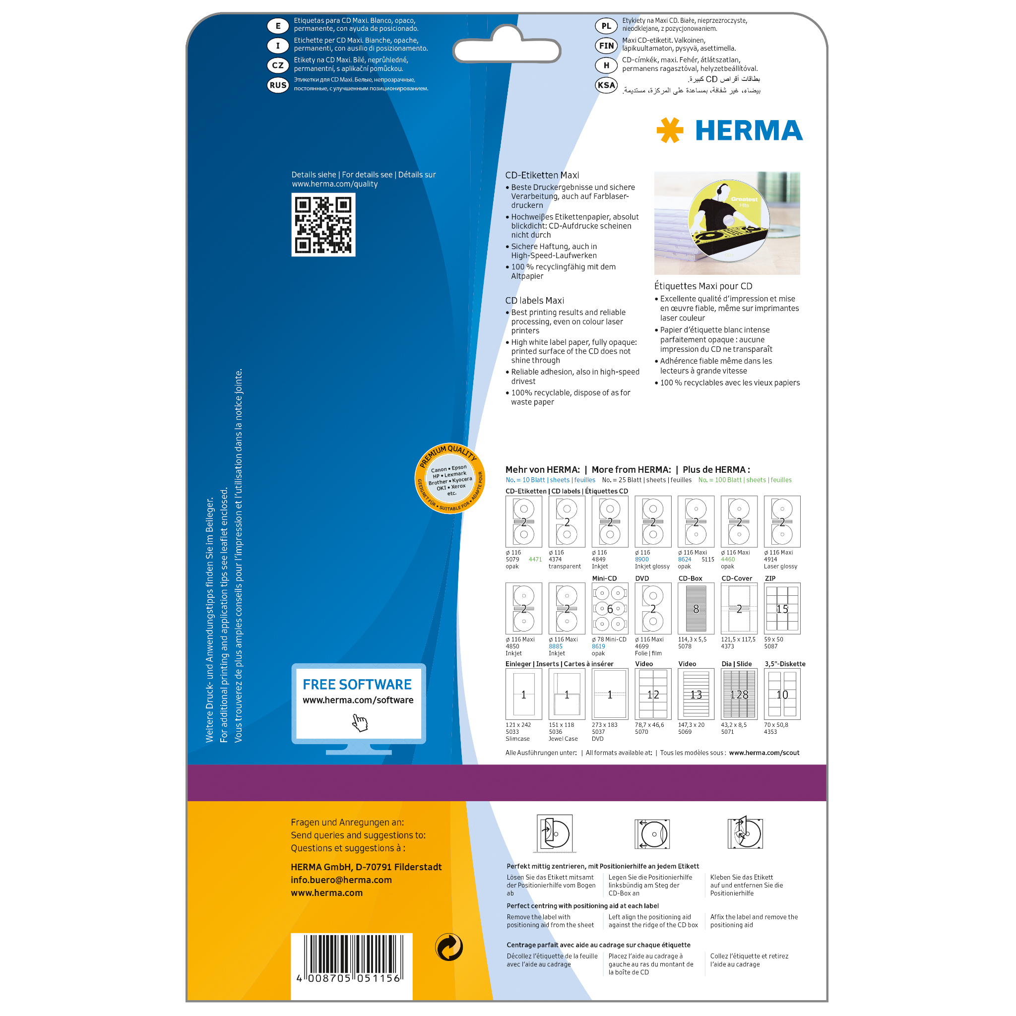 big sale 99637 71c4c CD labels Maxi A4, SuperPrint-5115